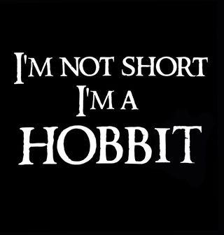 """Obrázek 2 produktu Dětské tričko Dětské tričko Já nejsem malý, já jsem hobit """"I am not short I am Hobbit"""""""