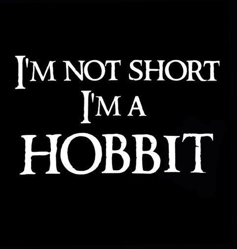 """Obrázek produktu Pánské tričko Pánské tričko Já nejsem malý, já jsem hobit """"I am not short I am Hobbit"""""""