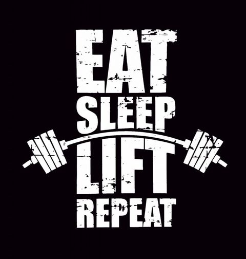 Obrázek produktu Pánské tričko Eat Sleep Lift Repeat