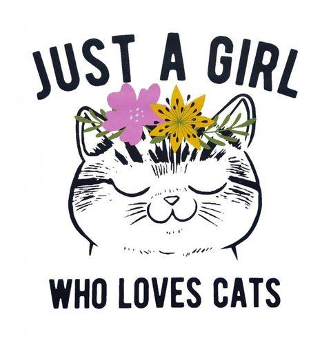Obrázek produktu Dámské tričko Prostě obyčejná holka, která miluje kočky!