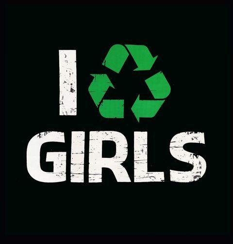 """Obrázek produktu Dětské tričko Dětské tričko """"Recykluji holky"""" I recycle girls"""