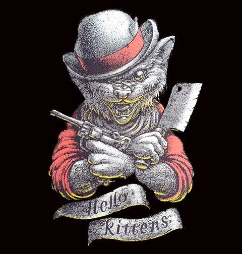 Obrázek produktu Dámské tričko Kocour Butcher Hello Kittens