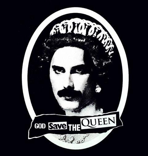 Obrázek produktu Pánské tričko God Save the Queen Freddie Mercury