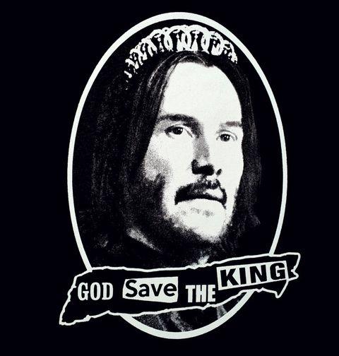 Obrázek produktu Dámské tričko God Save the King Keanu Reeves