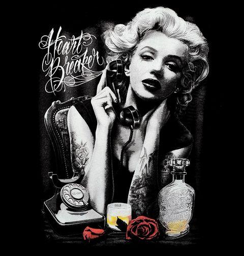 Obrázek produktu Dámské tričko Marylin Monroe Heart Braker