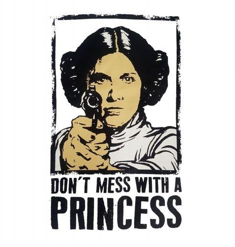 """Obrázek produktu Dámské tričko Star Wars """"Nezahrávej si s princeznou"""" Leia"""