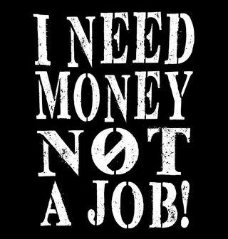 """Obrázek 2 produktu Dámské tílko """"Potřebuju peníze, ne práci"""" I need Money not a Job"""