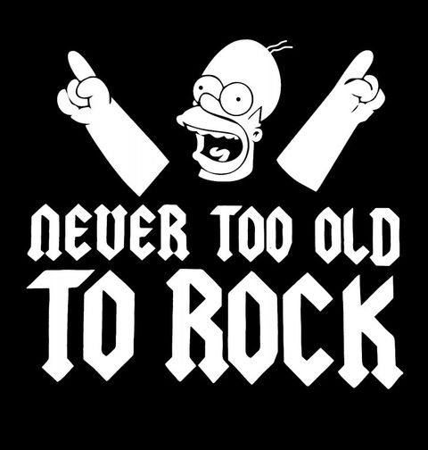 """Obrázek produktu Pánské tričko Nikdy nejsi starej na rock´n´roll """"Never too old to Rock"""""""