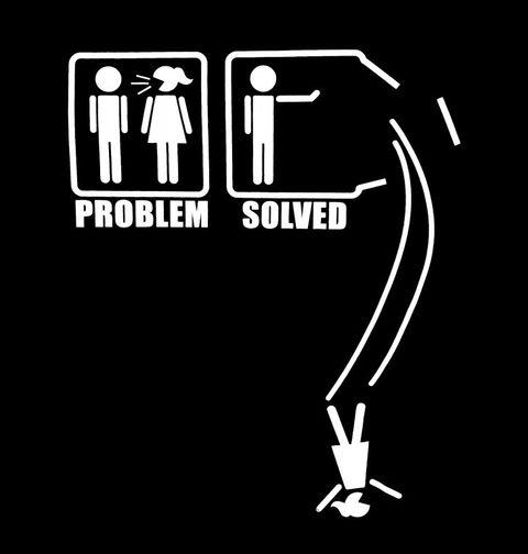 Obrázek produktu Pánské tričko Problémy ve vztahu? ⇨ Problém vyřešen!