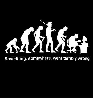 Obrázek 2 produktu Dámské tričko Evoluce? Někde se muselo něco pořádně pokazit!