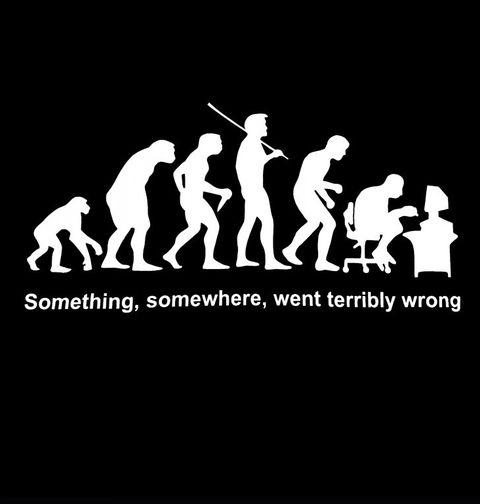 Obrázek produktu Pánské tričko Evoluce? Někde se muselo něco pořádně pokazit!