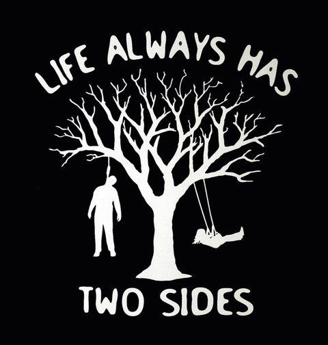 """Obrázek produktu Pánské tričko """"Na stromě se můžeš houpat nebo viset"""""""