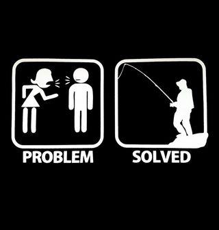 Obrázek 2 produktu Pánské tričko Problémy ve vztahu? Problém vyřešen – Rybaření