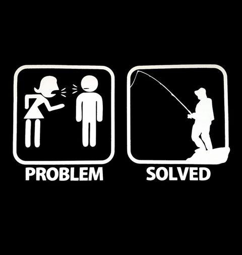Obrázek produktu Pánské tričko Problémy ve vztahu? Problém vyřešen – Rybaření