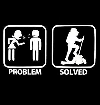 Obrázek 2 produktu Pánské tričko Problémy ve vztahu? Problem Solved - Hiking (Pěší tůry)
