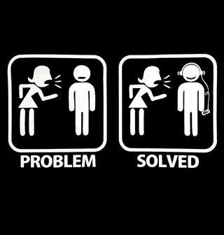 Obrázek 2 produktu Pánské tričko Problémy ve vztahu? Problem solved - sluchátka