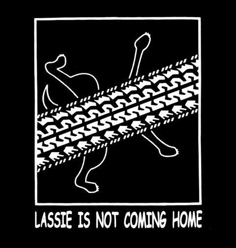 Obrázek produktu Pánské tričko Lassie domů nedorazí