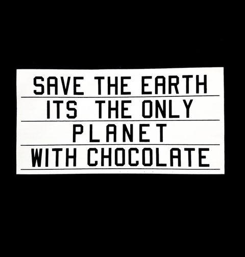 Obrázek produktu Dámské tričko Save the Earth! Jediná planeta s čokoládou!