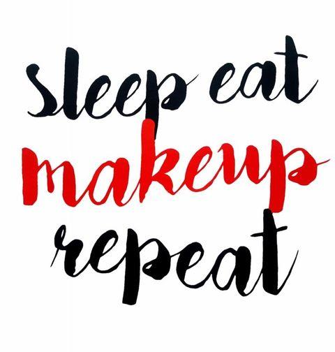 Obrázek produktu Dámské tričko Sleep Eat Makeup Repeat