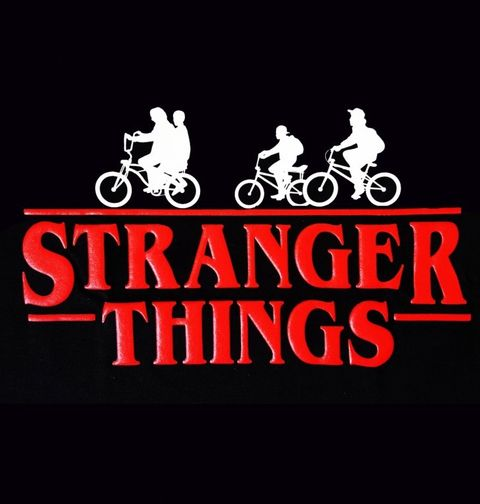 Obrázek produktu Dámské tričko Stranger Things Bike Adventure