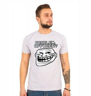 Obrázek 1 produktu Pánské tričko Meme Trollface Problem Officer
