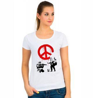"Obrázek 1 produktu Dámské tričko Banksy ""Soldiers painting Peace"""