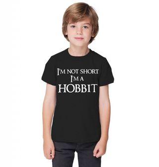 """Obrázek 1 produktu Dětské tričko Dětské tričko Já nejsem malý, já jsem hobit """"I am not short I am Hobbit"""""""