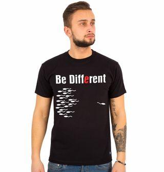 """Obrázek 1 produktu Pánské tričko Buď jiný """"Be different"""""""