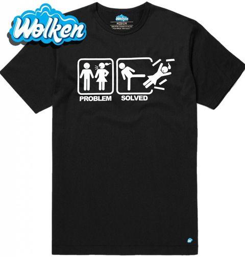Obrázek produktu Pánské tričko Problémy ve vztahu? Problem Solved - Karate Kick