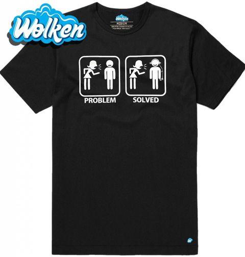 Obrázek produktu Pánské tričko Problémy ve vztahu? Problem solved - sluchátka