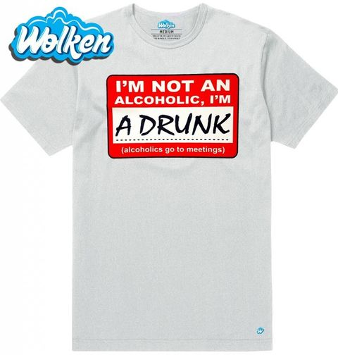 Obrázek produktu Pánské tričko Nejsem alkoholik, jsem opilý!