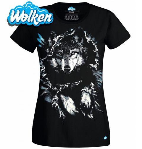 Obrázek produktu Dámské tričko Tajemný Vlk