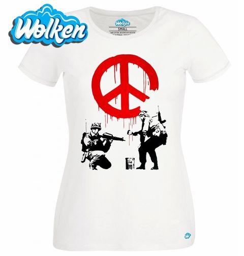 "Obrázek produktu Dámské tričko Banksy ""Soldiers painting Peace"""