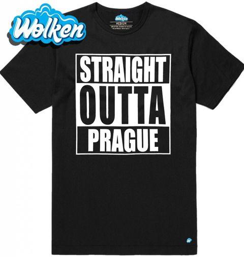 """Obrázek produktu Pánské tričko Přímo z Prahy """"Straight Outta Prague"""""""