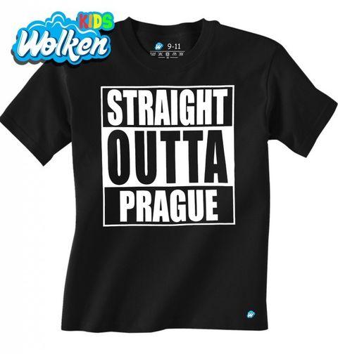 """Obrázek produktu Dětské tričko Přímo z Prahy """"Straight Outta Prague"""""""