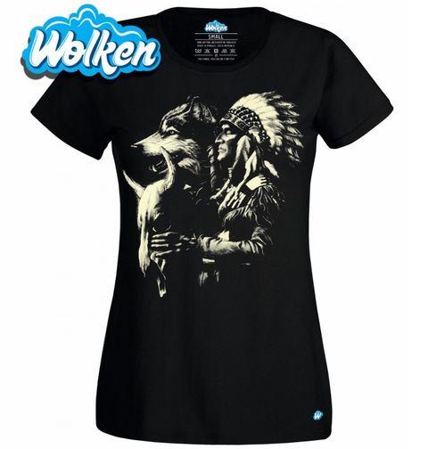 Obrázek produktu Dámské tričko Vlk a Indián