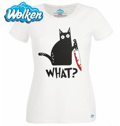 Obrázek produktu Dámské tričko Vražedná Kočka What!