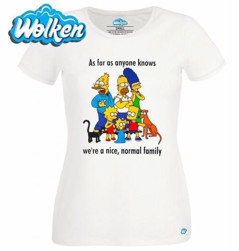"""Obrázek produktu Dámské tričko The Simpsons """"Taková normální rodinka"""" Simpsonovi"""