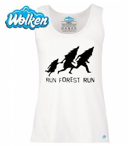 """Obrázek produktu Dámské tílko Run Forrest Run """"Běžící les"""""""
