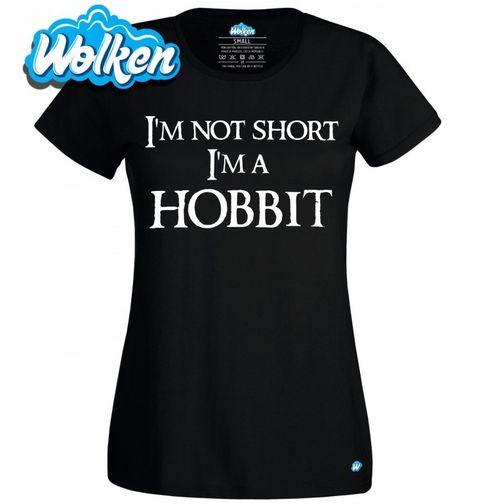 """Obrázek produktu Dámské tričko Dámské tričko Já nejsem malý, já jsem hobit """"I am not short I am Hobbit"""""""
