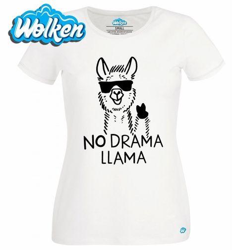 Obrázek produktu Dámské tričko Lama co nedělá drama No drama Llama