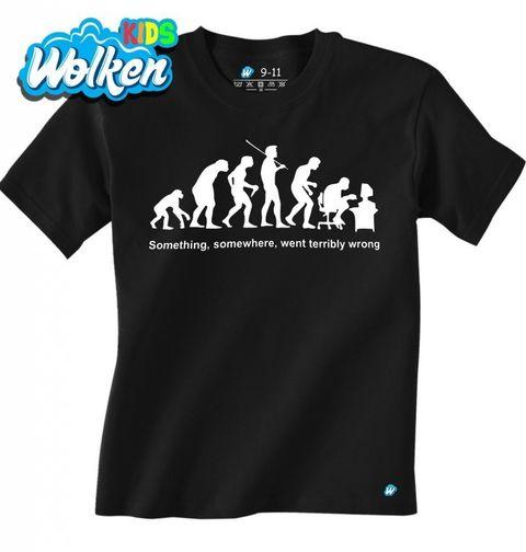 Obrázek produktu Dětské tričko Evoluce? Někde se muselo něco pořádně pokazit!