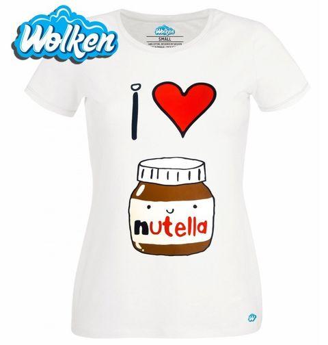 """Obrázek produktu Dámské tričko Miluju Nutellu """"I love Nutella"""""""