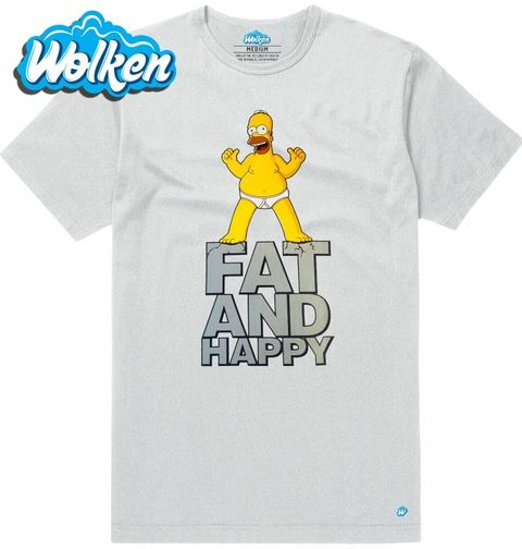 """Obrázek produktu Pánské tričko Homer Simpson """"Tlustý a veselý"""""""