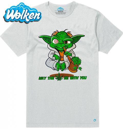 """Obrázek produktu Pánské tričko Veselý Yoda """"Nechť tě provází marihuana!"""""""