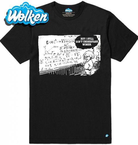 Obrázek produktu Pánské tričko Zoufalý Albert Einstein nerozumí ženám