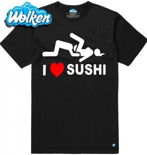 """Obrázek produktu Pánské tričko Miluju Sushi """"I love Sushi"""""""