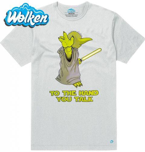 """Obrázek produktu Pánské tričko Mistr Yoda """"K ruce ty mluv!"""""""