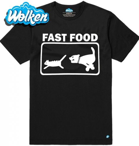"Obrázek produktu Pánské tričko Fast Food ""Pes a kočka"""