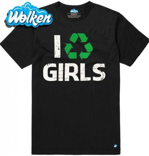 """Obrázek produktu Pánské tričko Pánské tričko """"Recykluji holky"""" I recycle girls"""